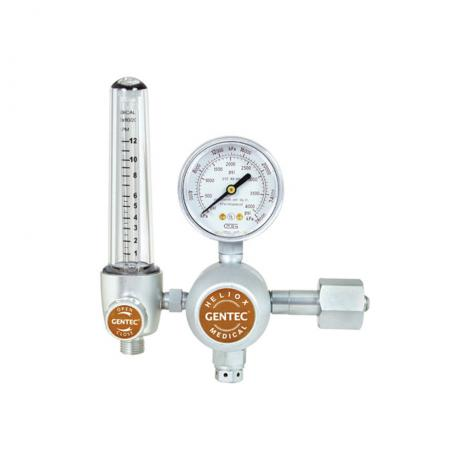 GenTech Flowmeter Regulators Diaphragm-type Regulator with 0-12 LPM Flowmeter, CGA 280 Inlet 197HX-1