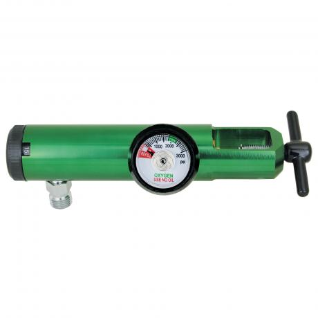 GenTech Click Style Regulator MINI Click-style Oxygen Regulator, 0-25 LPM, with Hose Barb 285MA-25LY