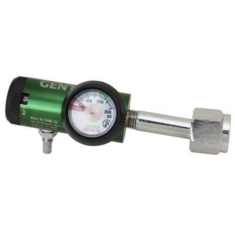 GenTech Click Style Regulator Click-style Oxygen Regulator, 0-25 LPM, w/Hose Barb & 2-DISS 284MA-25LY2