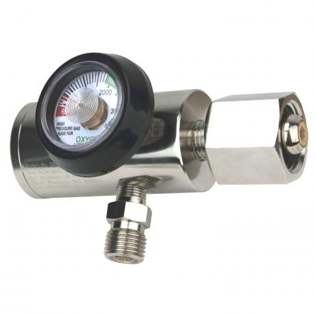 GenTech Click Style Regulator Click-style Oxygen Regulator, 0-25 LPM, with Hose Barb 286MB-25LY
