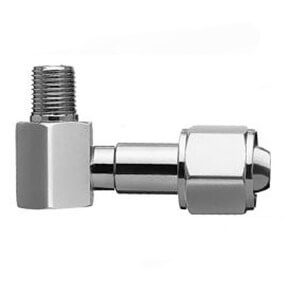 1249-3 – Bay Corporation – DISS 90⁰ Hex Nut & Nipple x 1/4″ NPT Male, 3/4″ Nipple, Oxygen