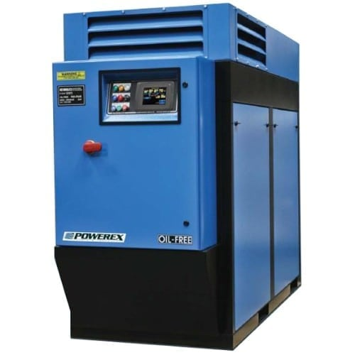 Powerex Medical Enclosed Rotary Screw Air Compressor System with Air Treatment Center Package MTRE07