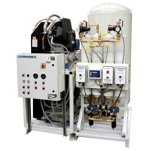 Powerex Medical Reciprocating Piston Air Compressor System with Premium NFPA Controls MTD0304