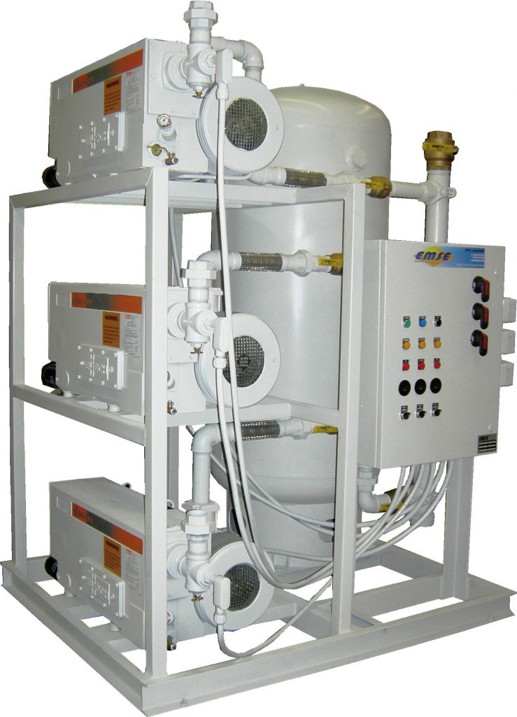 EMSE Oil-less Rotary Vane Duplex Systems 1DOB10S200