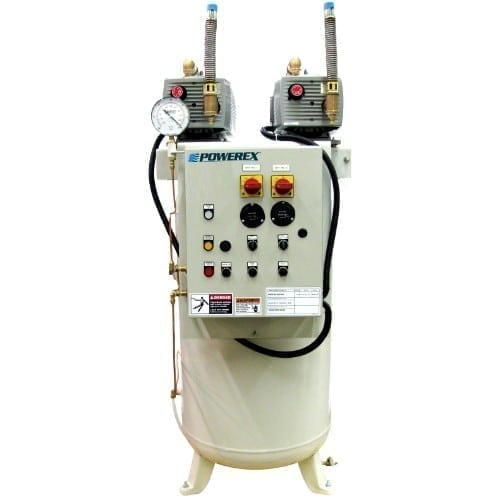 Powerex Medical Oilless Dry Vane Vacuum System with Premium NFPA Controls VVOTD0203