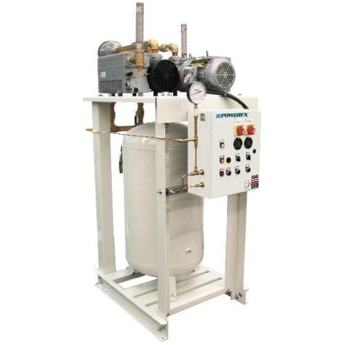 Powerex Medical Lubricated Vane Vacuum System with Premium NFPA Controls VPDT0402