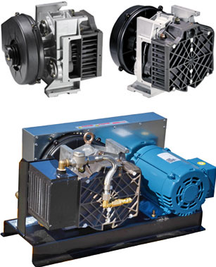 Oil-less Rotary Scroll Air Compressors
