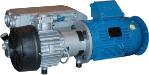 Ohio Medical Rotary Vane Vacuum Pumps with motor installed S5L-N 264373