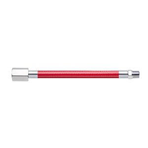 Hose Assembly; Instrument Air; Non Conductive (1/4″); Red; 1/4 NPT Female Pipe Thread; 1/8 NPT Male Pipe Thread