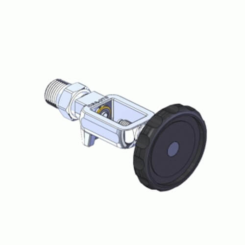 Superior MFY-870-8H-M, Pin Indexed Yoke w/ S.S. HT Grip for CGA-870 Oxygen