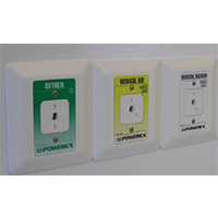 Powerex Recessed Wall Outlet White Trim Plate With Standard Powerex Style Front Plate – Ohmeda/Ohio