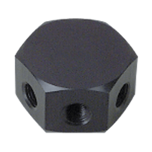 Precision Medical 9051, Hex Block (3 outlet), 1/4 NPT Female