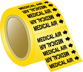 Seton Pipe Marker Medical Air