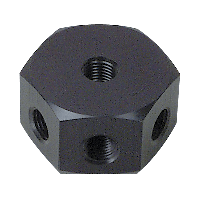 Precision Medical 9052, Quad Block (4 outlet), 1/4 NPT Offset